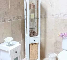 10 Tips For Organizing Open Bathroom Shelves Hometalk