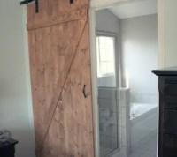 DIY Distressed Sliding Barn Door | Hometalk