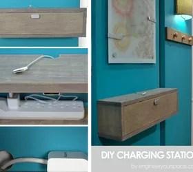Wall Mounted Diy Charging Station And Shelf Combo Hometalk
