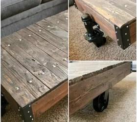 Diy Factory Cart Table {A Restoration Hardware Knockoff} | Hometalk