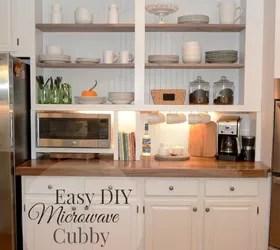 Quotbuilt Inquot Cupboard W A Microwave Cubby Hometalk