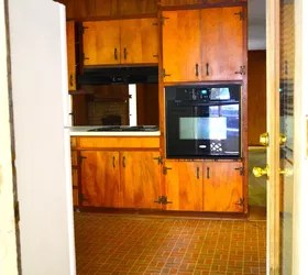 Design Kitchen Layout Cabinets Flip House 1960s Kitchen Before And After. A Major Kitchen