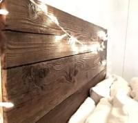Rustic Headboard With Hanging Bedside Table | Hometalk