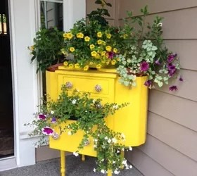 Short Dresser 15 Whimsical Ways To Use Old Furniture In Your Flower Bed