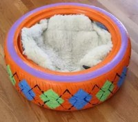 Upcycled Rubber Tire Pet Bed | Hometalk