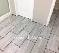 How to Tile a Bathroom Floor With 12x24 Gray Tiles | Hometalk