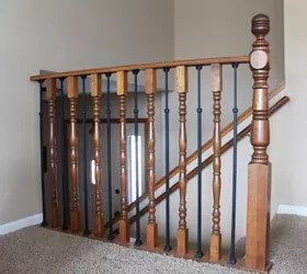 Stair Railing Diy Makeover Hometalk
