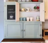 Hoosier Cabinet Made Into a Coffee Bar | Hometalk