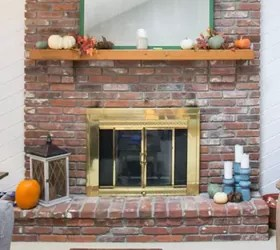 How To Update A Fireplace Door With Spray Paint Hometalk