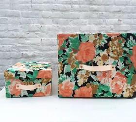 Turn Cardboard Boxes Into Pretty Storage Bins Hometalk
