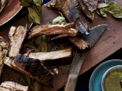 Clever Chimichurri Grilled Lamb Ribs Grilled Lamb Ribs Chimichurri Recipe Food Wine Lamb Ribs Recipe Smoked Lamb Ribs Recipe Rosemary