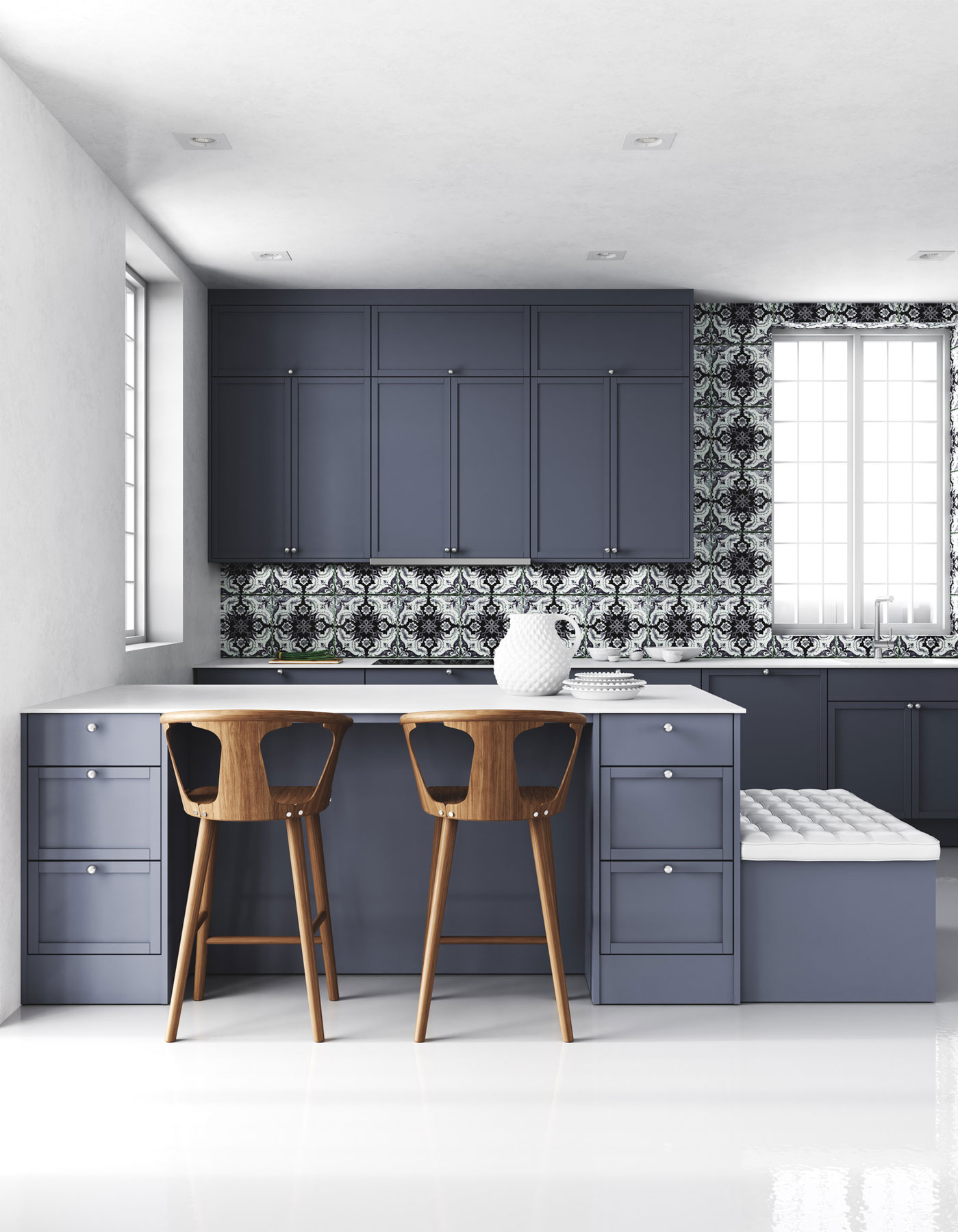Kitchen Cabinets Painted Grey 7 Kitchen Cabinet Colors We Can T Stop Swooning Over Real Simple