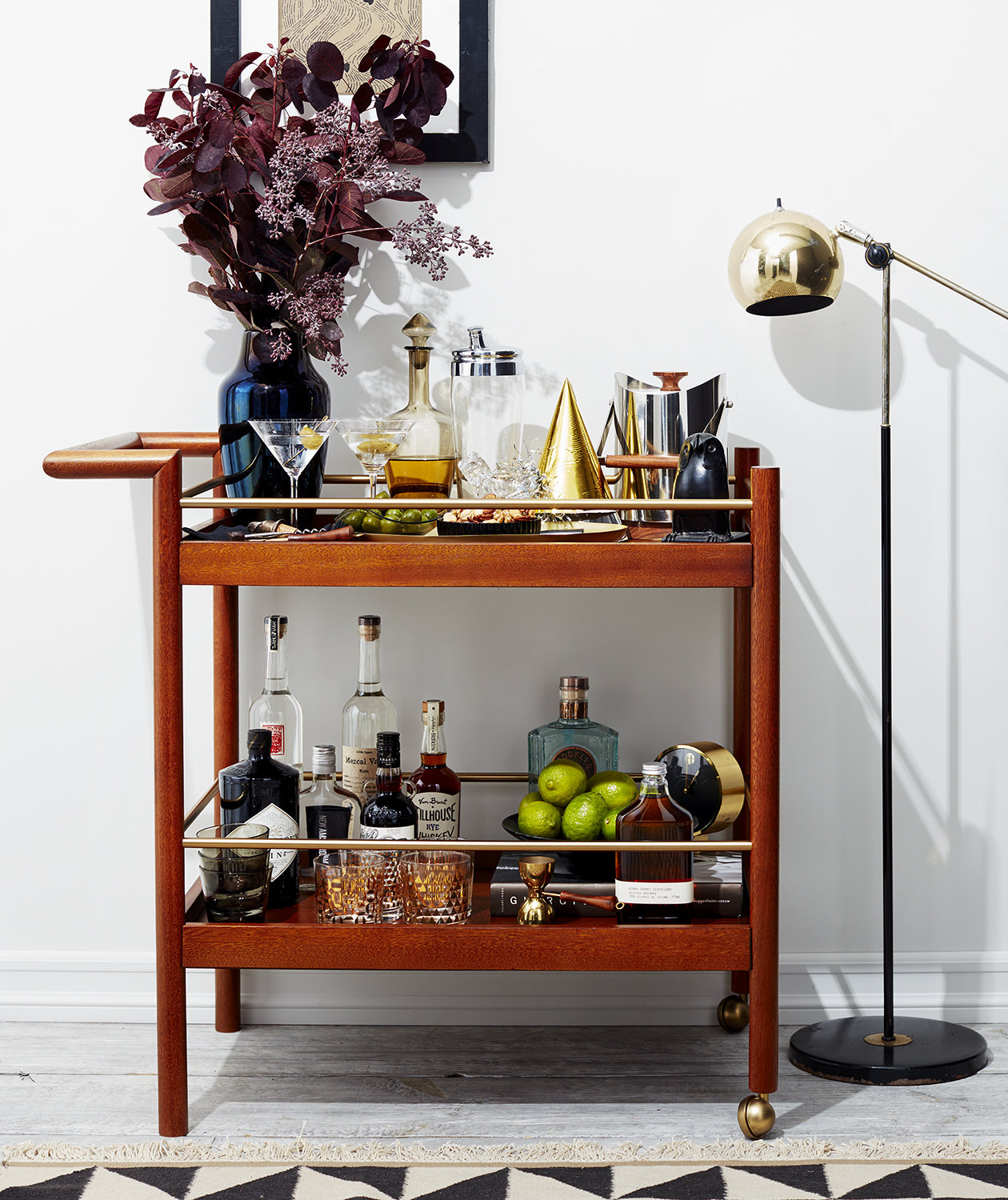 How To Decorate A Home Bar 5 Genius Ways To Style A Bar Cart For Every Occasion