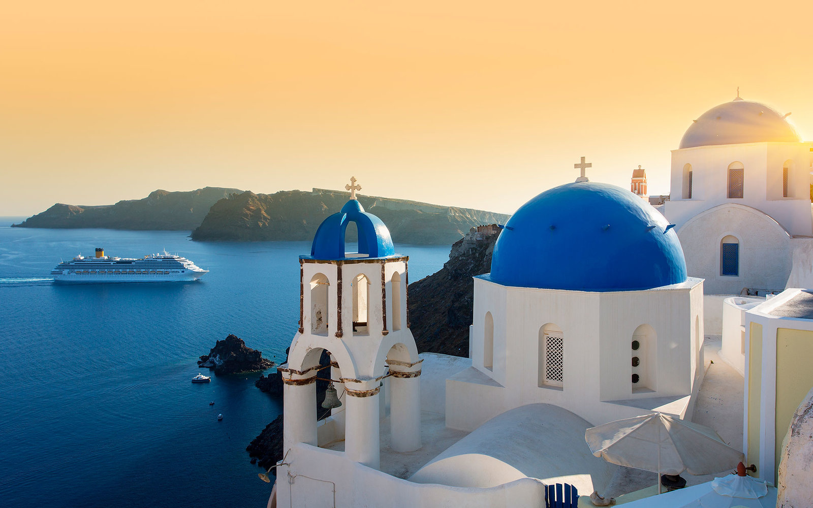 Bing Fall Desktop Wallpaper Santorini To Cap Number Of Cruise Tourists Travel Leisure