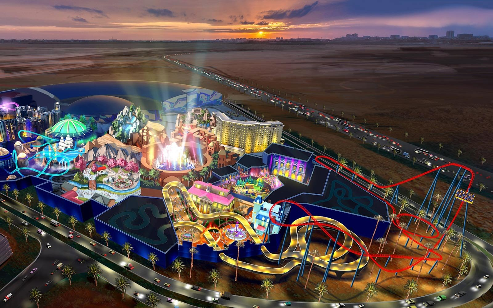 Парк мира Dubai Is Building Another Bigger Theme Park Next To World S