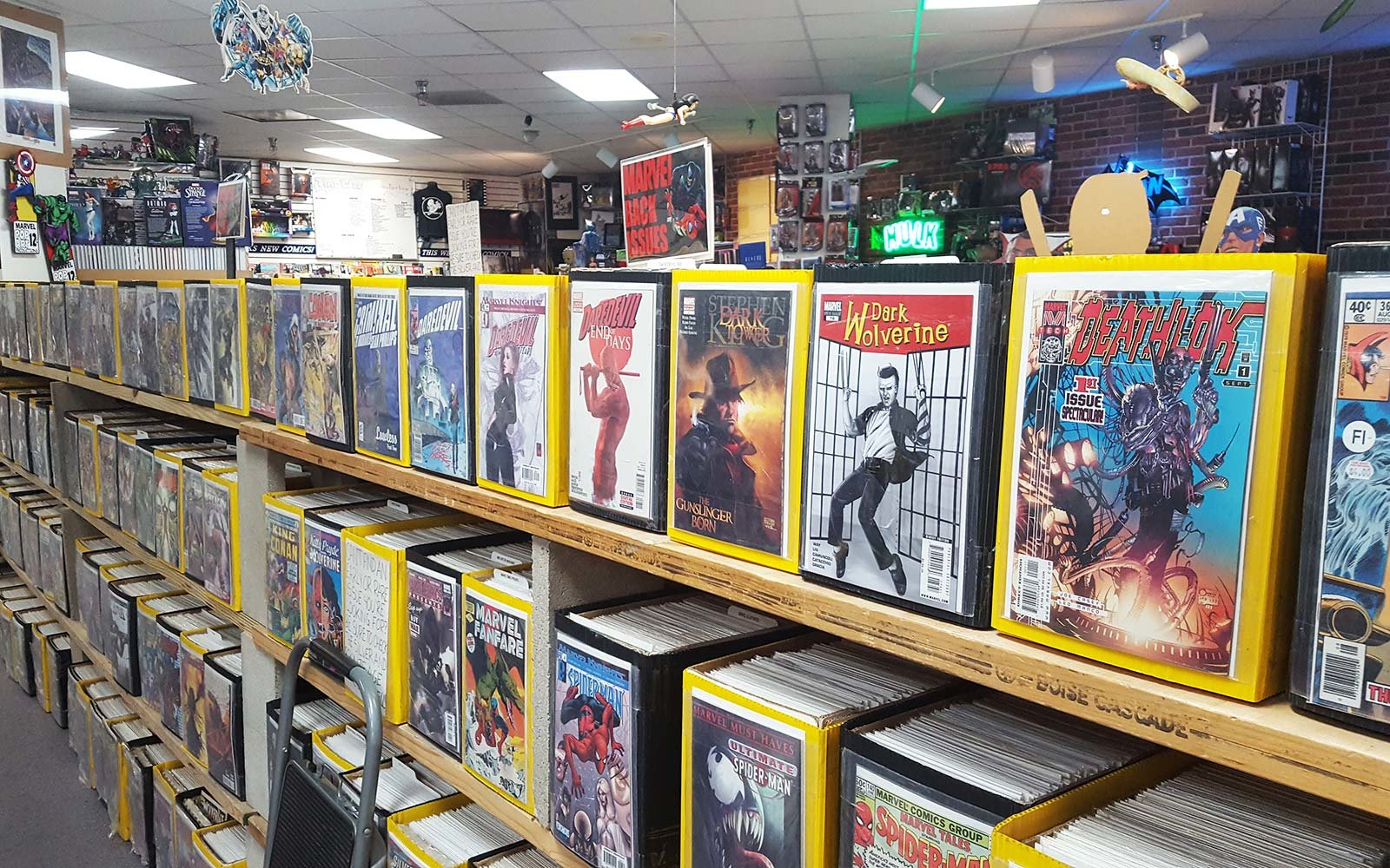 Stylish Sale Racks Comic Book Shelves Travel Leisure Comic Book Shelves Cards Boulder California Comic Book Stores Time Warp Comics interior Comic Book Shelves