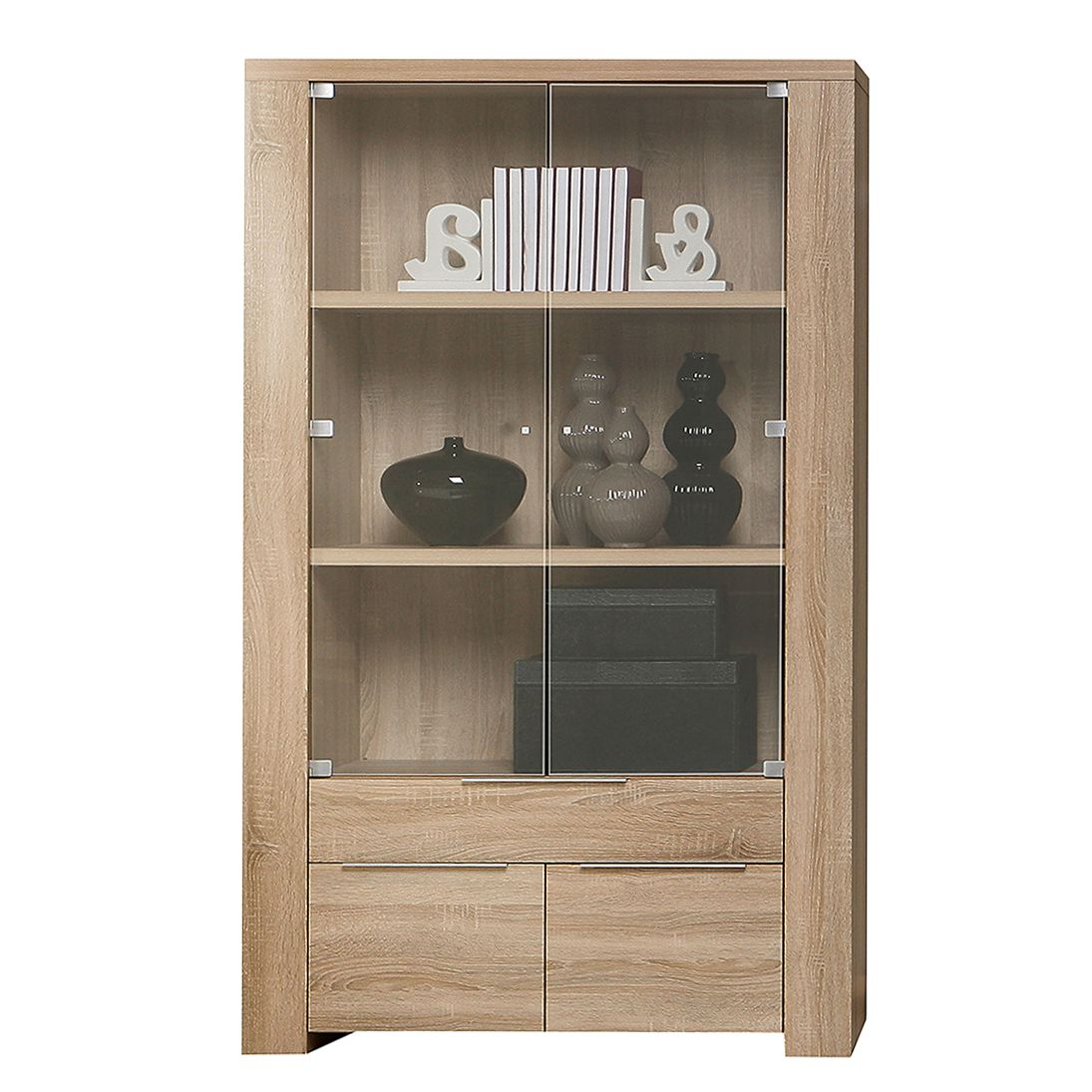 Glasvitrine Discount Vitrine Sonoma Eiche Wei Great Highboard Vitrine Cm Walnuss
