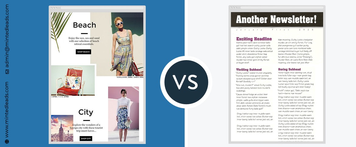 Custom Email Design Templates V/s Plain Text for Your Email Marketing