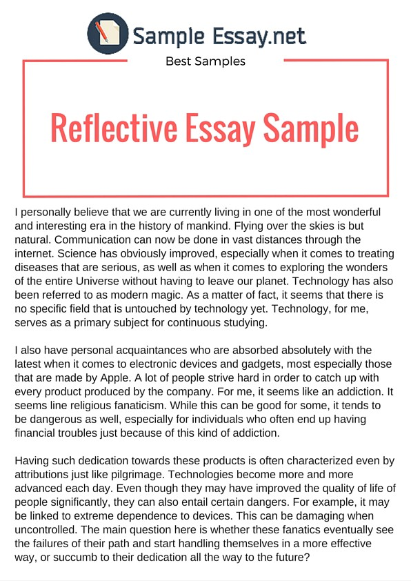 Example Of Reflective Essay That Really Stand Out \u2013 Sample Essay