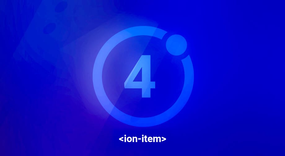 Ionic 4 Quick Tips Styling ion-item \u2013 Ionic Theme \u2013 Medium