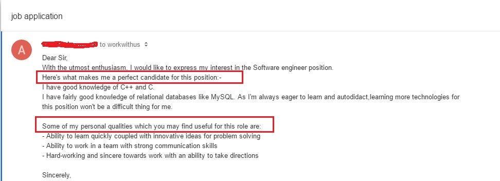 How to write a cover email for job application \u2013 Mayur Macwan\u0027s Blog
