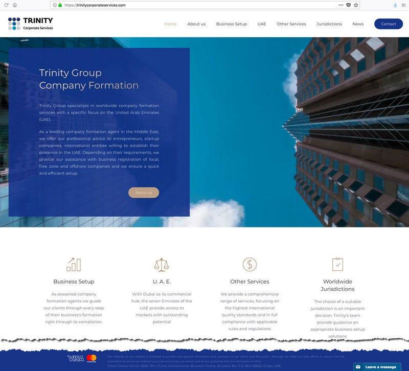 Dubai Company registration The new Trinity Corporate Services