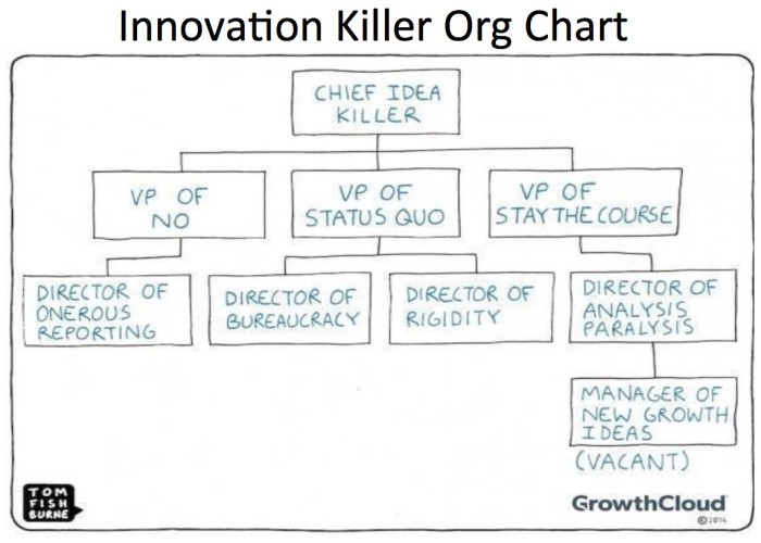 Innovation Killer Organization Chart \u2013 Frank Diana \u2013 Medium