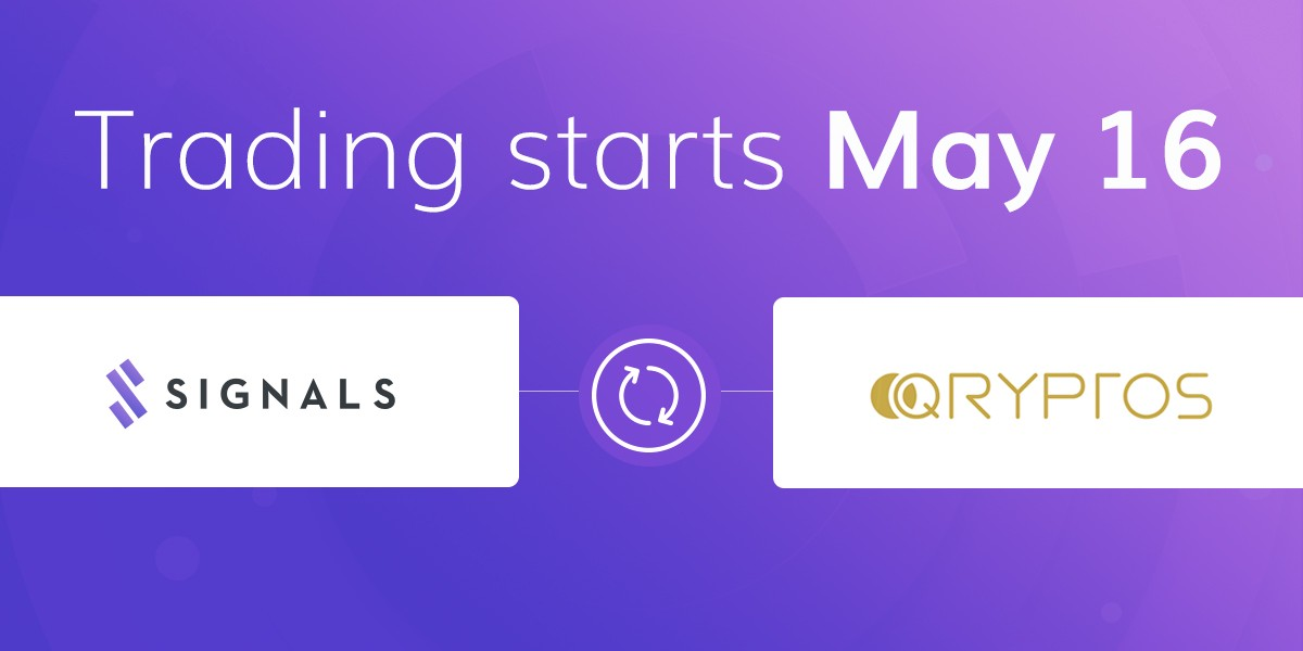 Introducing QRYPTOS and IDEX, Signals Network Token exchanges