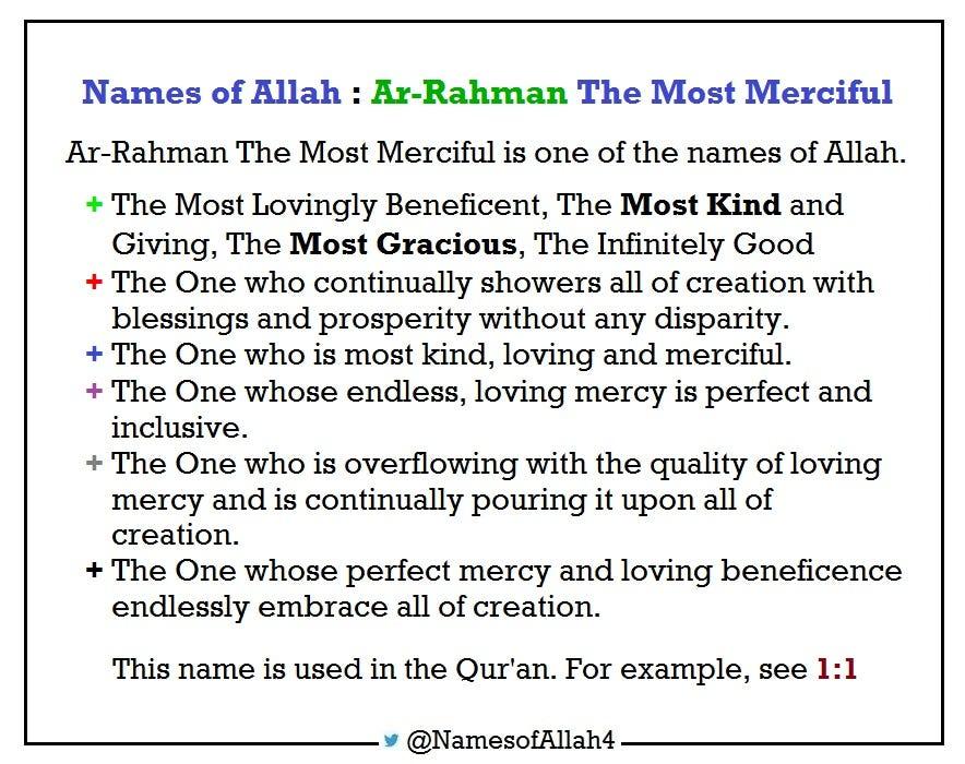 Names of Allah  Ar-Rahman The Most Merciful \u2013 Names of Allah \u2013 Medium