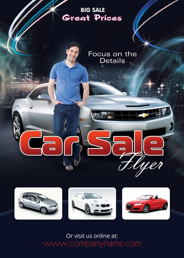 Car Sales Flyer Template (Photoshop Version) \u2013 Photoshop Flyers \u2013 Medium