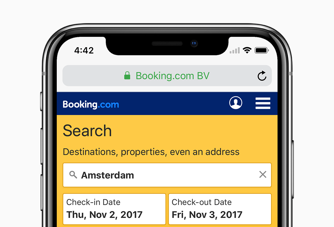 Booking Site How We Adapted The Booking Mobile Site For The Iphone X Notch