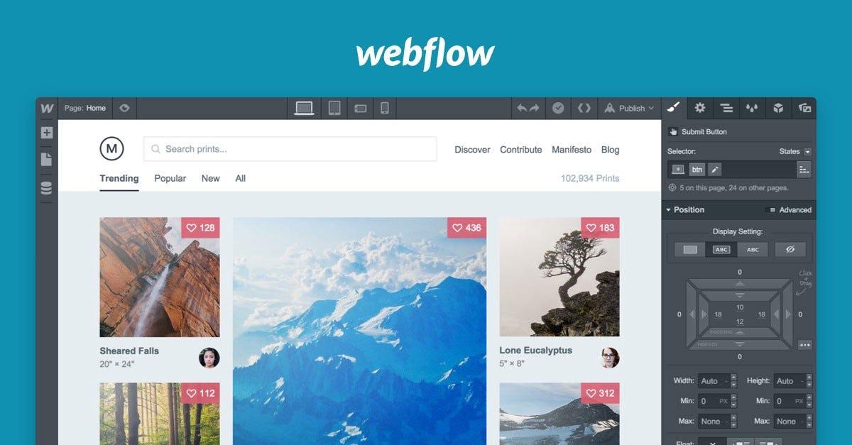 How to make a simple layouot on Webflow Part2 \u2013 Prototypr