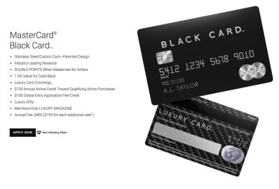 Luxury MasterCard Black Card Review – AskSebby