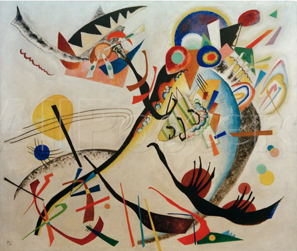 Cuadros Wassily Kandinsky The A S And A D Curves Are Not A Wassily Kandinsky Painting