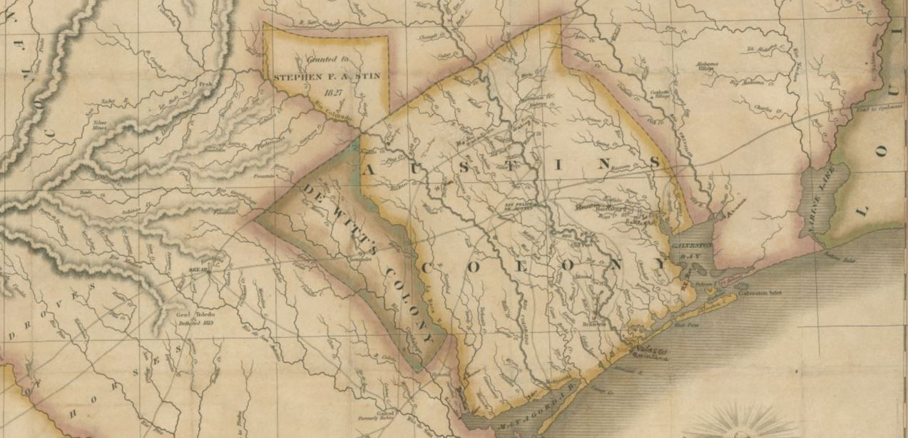 Map of Texas with parts of the Adjoining States \u2013 Save Texas History