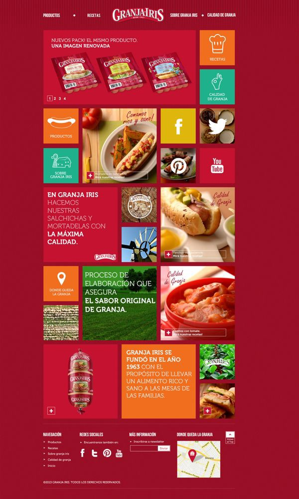 Web design inspiration #815 u2013 From up North - food brochure