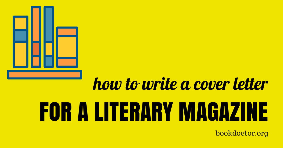 cover letter literary journal