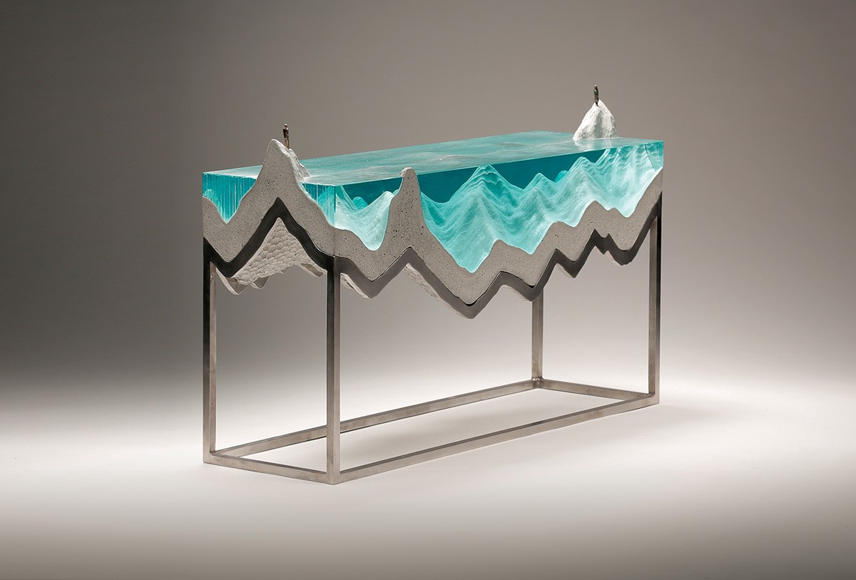 Ben Young Sculptures Amazing Glass Wave Sculptures By Ben Young 叶卉婷 Medium