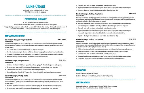 The best resume template based on my 15 years experience sharing - Best Resume Template