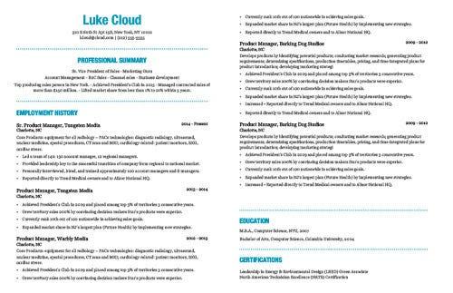resume job history length