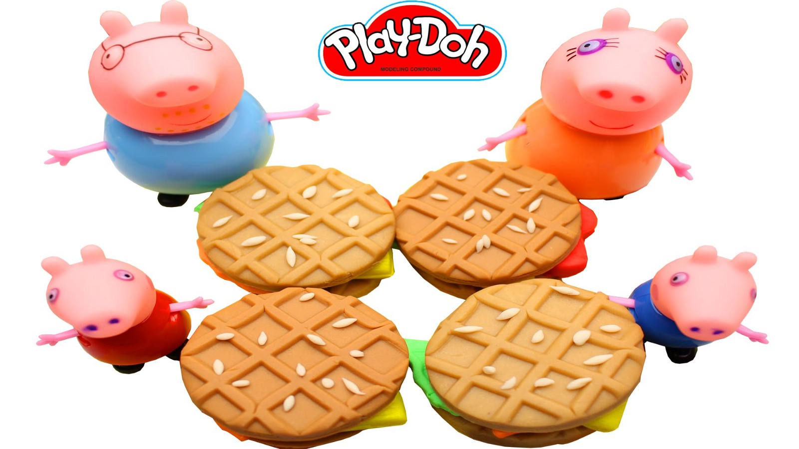 Cuisine Peppa Pig Play Doh Breakfast Waffle Fruit Filling For Family Peppa Pig Youtube