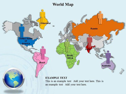 World map PowerPoint \u2013 Templates for PowerPoint \u2013 Medium