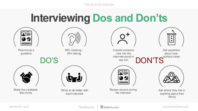 Acing the Interviews Dos and Don\u0027ts \u2013 ROHA TARIQ \u2013 Medium - interview dos and donts