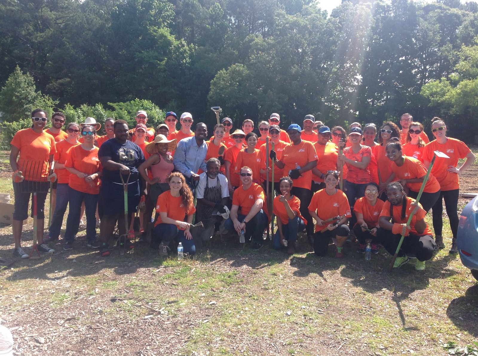 Bank Home Depot South Fulton Community Garden Gets Helping Hand From Atlanta