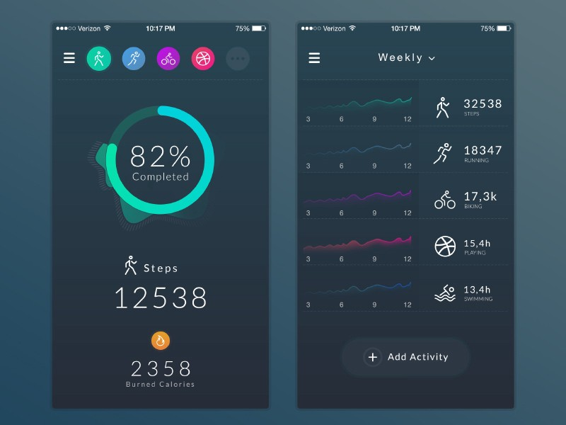 UI Design in Health  Fitness Apps \u2013 Inspiration Supply \u2013 Medium