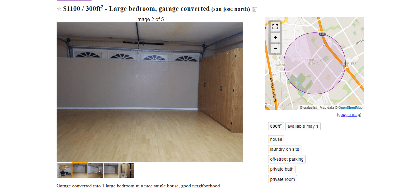 Garage For Rent On Craigslist The Sketchiest Bay Area Apartments You Can Rent In May