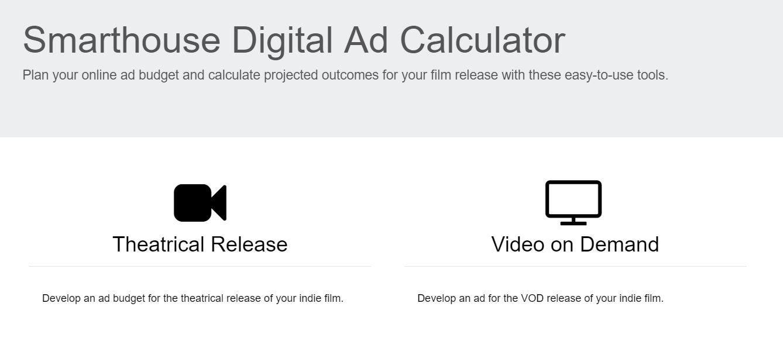 Online Ad Budget Calculator \u2013 Smarthouse Indie Film Marketing