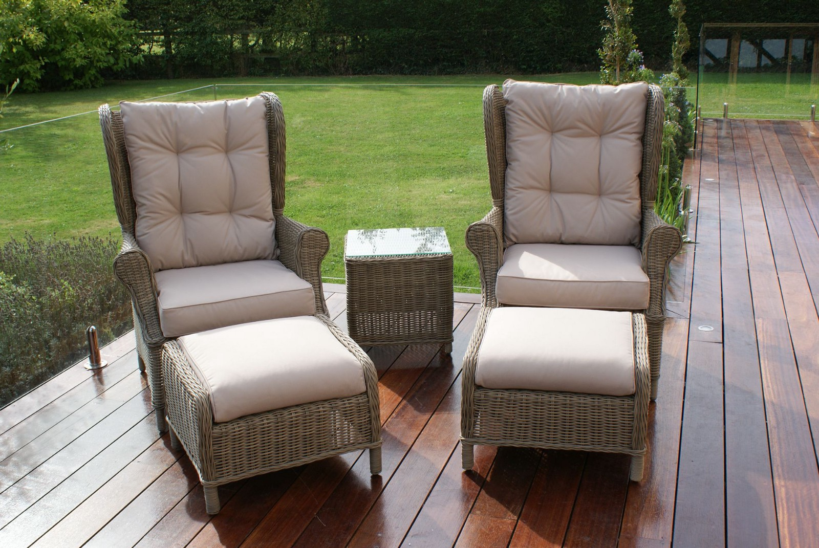Lounge Set Rattan Relax In The Comfortable Maze Rattan Winchester High Back Lounge Set