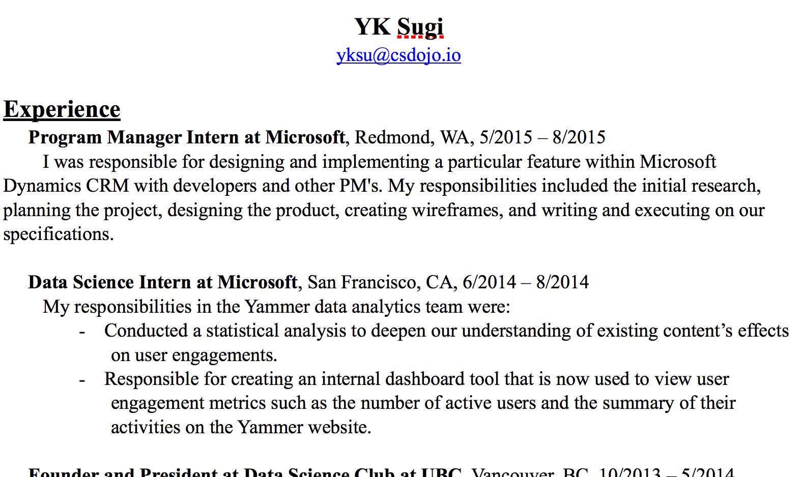 resume skills software engineer