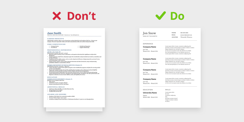how to build the perfect resumes